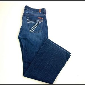 Excellent like new 7 for all mankind dojo jeans 27